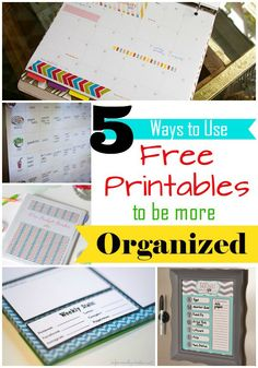 Back-to-School | Organization | A new school year is the perfect time for a fresh start. Use these five free printables to organize your schedule, budget, diet, and more!