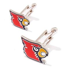 Louisville Cardinals Team Logo Cufflinks