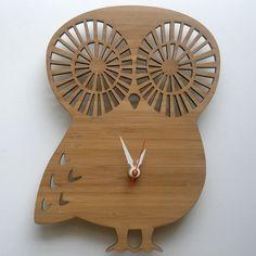 Modern Owl Clock