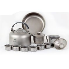 320.00$  Watch here - http://alipja.worldwells.pw/go.php?t=32615841996 - Keith Luxury Titanium Tea Cup Camping Kettle Chinese Kongfu  Tea set  Outdoor Portable Tea pot 320.00$