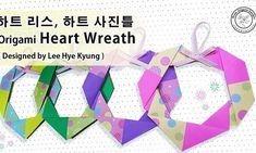 종이접기 하트리스 도안,종이접기도안-하트접는법,하트액자 종이접기,하트 종이접기 접는방법, Origami Heart diagram by 이혜경 ( Lee Hye Kyung ) : 네이버 블로그 Origami Wreath, Origami Diagrams, Origami Heart, Origami Design, Heart Wreath, Valentines, Wreaths, Rings, Remainders