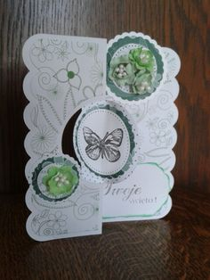 Green Butterfly card