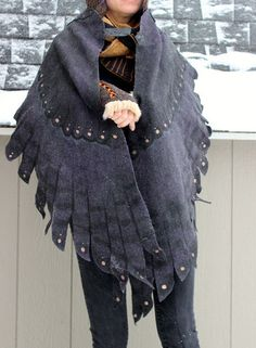 WING SHAWL WRAP  and if that's not enough, check out the art dolls and masks!