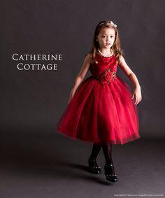 2c6c5efb49375 子供ドレスのキャサリンコテージ《本店》ワンピース・スーツ・フォーマル靴   真っ赤な花刺繍ノースリーブドレス  120 130 140 150cm 赤  緑 ネイビー 紺 ベロア   ...