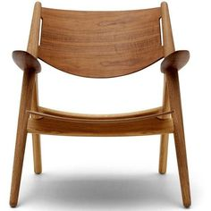 Carl Hansen and Son Wegner CH28 Sawhorse Chair All Wood Oak Frame (€3.635) ❤ liked on Polyvore featuring home, furniture, chairs, wooden furniture, wegner lounge chair, oakwood furniture, wooden lounge chair and hans wegner chair