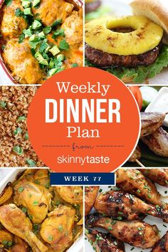 Hope you all had a great holiday weekend! I was away in Tennessee, so I skipped posting a meal plan last week, but I'm back on track! Pictured below is The Skinnytaste Meal Planner where I plan my din