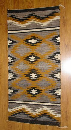 Two Faced Navajo Double Saddle Blanket For Sale Photo 1