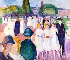 Promenade in Spring Edvard Munch - 1917