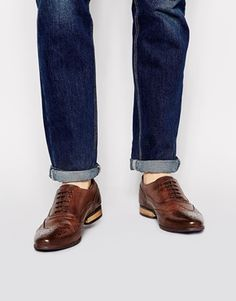 ASOS Brogue Shoes With Colored Tread