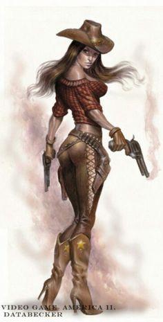 Female gunslinger.