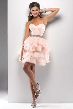 Tulle Natural Waist Mini-length Sweetheart A-line Prom Dress