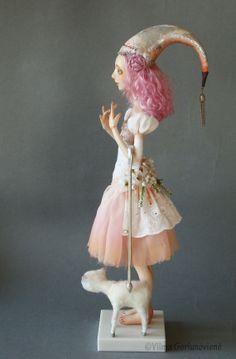 RESERVED Art doll OOAK The Shepherdess by VilmaDollsHouse on Etsy, €320.00