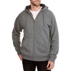 Faded Glory Men's Sherpa Hoodie, Size: Medium, Black