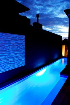 Pool with wall sculpture by Valissa Butterworth from the modcollective