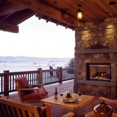 Outdoor oasis with view of the mountains.