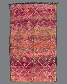 vintage Moroccan rug, Beni M'Guild #BG51