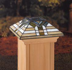 Deckorators® Solar glass fence post caps