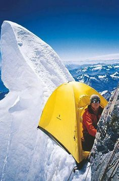 Gadgetflye.com - Steve House from USA near his camp while climbing on Nanga Parbat Rupal Face 8125m ,