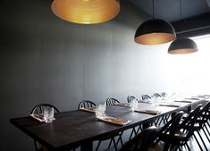 I'm really in love with the new Kul restaurant designed by Space Copenhagen. The dark walls draw all the attention to what's on the table and makes the space very cozy. Copenhagen Restaurants, Space Copenhagen, Low Stool, Dark Interiors, Design Interiors, Cafe Interior, Kitchen Cabinetry, Modern Interior Design, Fine Dining