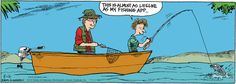 "8/16/12 ""Daddy's Home"" Comic & Question: Favorite fish? Get a ""Daddy's Home"" of your own: www.cafepress.com..."