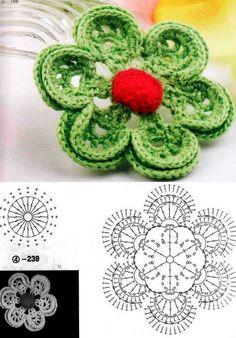 Flor de crochet.-