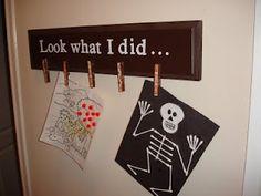Kids art display - need to do this.
