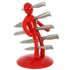 Red Voodoo Knife Block - £59.95 : Groovy Home, Funky Furniture, Kitchen & Home Accessories
