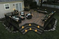 Ideas to transform your backyard into an outdoor living space. From decks to porches to patios, discover design tools, design ideas, a project calculator & more. Synthetic Decking, Patio Deck Designs, Patio Ideas, Pergola Ideas, Outdoor Ideas, Pergola Kits, Back Yard Deck Ideas, Small Patio Design, Pool Ideas