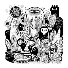 """Big Garden"" by Exit Man on Artsider - Print available at http://www.artsider.com/works/20221-big-garden"