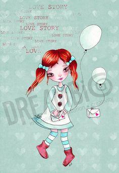 love story mint decor Girl Nursery Wall Decor by DreamBigArtDesign