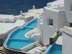 The classic blue/white Greek design.