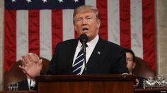 En discurso Congreso Donald Trump modera el tono, habla de reforma migratoria, economía, islamismo radial y llama a la unidad