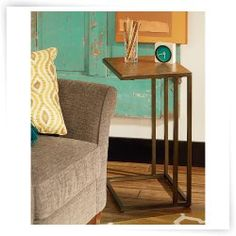 Maintain an airy feel in your living room with this Hammary Soho Accent Table - Khaki Travertine / Oil Rubbed Bronze . Sofa Tables, End Tables, C Table, Travertine, Oil Rubbed Bronze, Soho, Favorite Color, Living Room, Storage