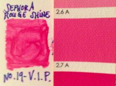 Sephora's rouge shine lipstick in VIP matches Bright Spring's A Clear Spring, Bright Spring, Spring Colors, Beauty And The Bees, Seasonal Color Analysis, Collor, Spring Makeup, Season Colors, Makeup Brushes