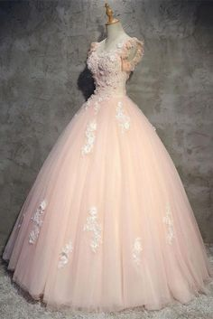 Quince Dresses, Pink Prom Dresses, Quinceanera Dresses, Pretty Dresses, Pink Dress, Beautiful Dresses, Wedding Dresses, Pink Tulle, Tulle Lace