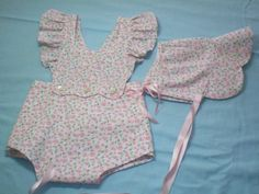 Heirloom Vintage-Style Sun Suit with Matching by GrandmaGinnys