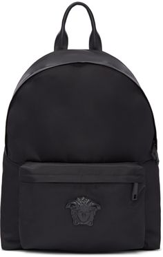 VERSACE Black Nylon Medusa Backpack.  versace  bags  leather  lining  nylon 6cc98c47891d5