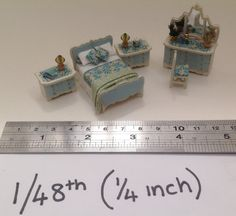 Dolls House Miniatures Hand Painted Pretty by LittleHouseAtPriory