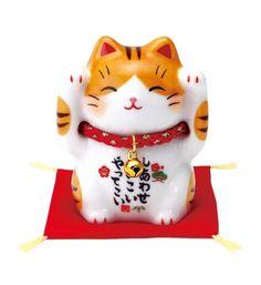 Lucky Cat Tattoo, Red Cushions, Taurus Moon, Maneki Neko, Tiny Cats, Kimono Design, Buy Birds, Good Luck, Cat Doll
