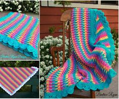 Rainbow Dash Baby Blanket - Free Pattern