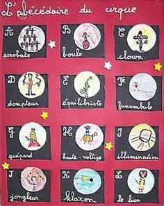 l'abécédaire du cirque Le Clown, French School, Alphabet, Holiday Decor, Cycle 2, Art Plastique, Images, Kids, Carnival