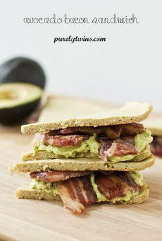 gluten-free plantain avocado bacon sandwich
