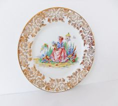 Crinoline Lady Plate  Imperial Fine Bone China  by peonyandthistle, £6.50