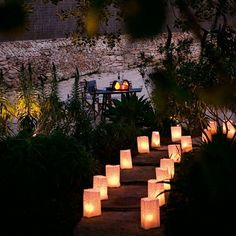 Outdoor Tea Lights Balugar shop balugarshop on pinterest garden steps illuminated with candles and paper tealights cheep garden ideas workwithnaturefo