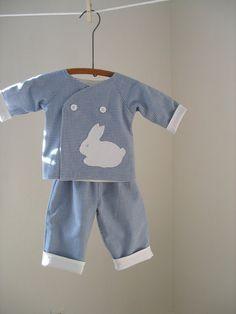 Baby Boy Kimono Top with Pants by roomtoromp on Etsy, $40.00