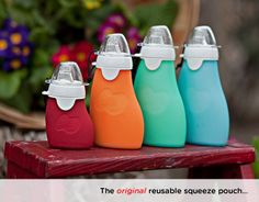 Reusable, eco-friendly food pouch | The Sili Squeeze = They yummy fresh recipes are endless www.inmynest.com.au