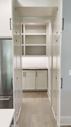 Small Pantry Cabinet, Ikea Pantry, Hidden Pantry, Kitchen Cabinet Layout, Pantry Room, Kitchen Pantry Design, Kitchen Organization Pantry, Hidden Kitchen, Modern Kitchen Design