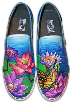 wholesale dealer 47d84 9fae0 Роспись обуви акриловыми красками-6 Adam Johnson, Flower Shoes, Sharpie  Shoes, Kicks