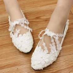 Women's Pearls Bridal Lace Flower Pointed Toe Wedding Ankle Strappy White Shoes | Clothing, Shoes & Accessories, Women's Shoes, Heels | eBay!