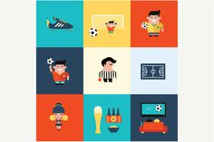 Check out Vector football soccer icons by vectorprro on Creative Market